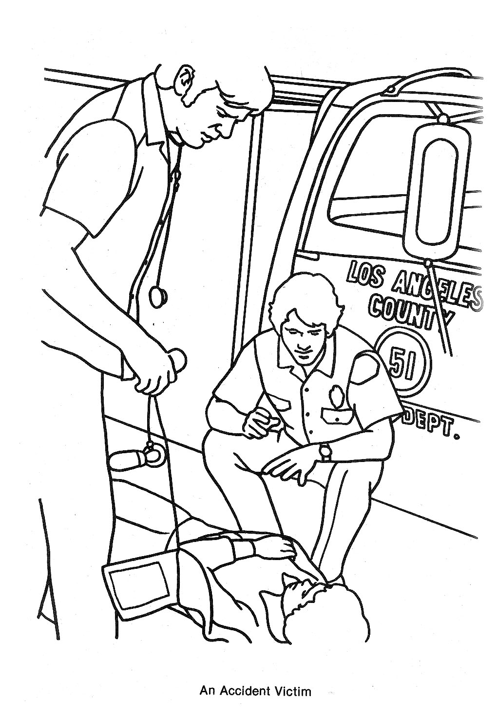 Emergency tv show coloring pages coloring page for Tv coloring page
